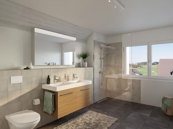 Badezimmer - Wohnung A3