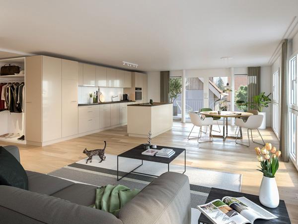 Wohnzimmer - Wohnung A2